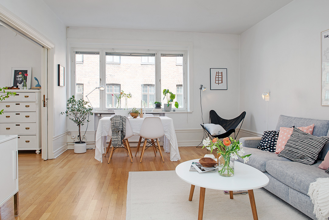 Decore no estilo escandinavo thyara porto arquiteta - Salon comedor con estilo ...